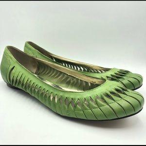 Sam Edelman Green Ianna Flats Size 6